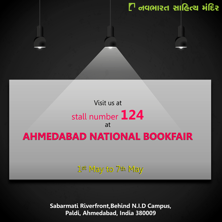 Every #booklovers delight, #AhmedabadNationalBookFair is here again! Visit us at stall 124!  #NavbharatSahityaMandir #Reading #Books