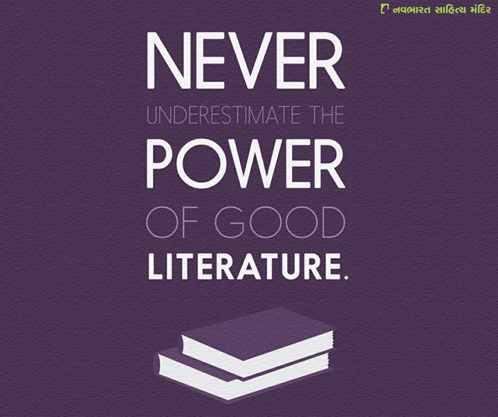 Never underestimate the power of good Literature.  #NavbharatSahityaMandir #Reading #Books