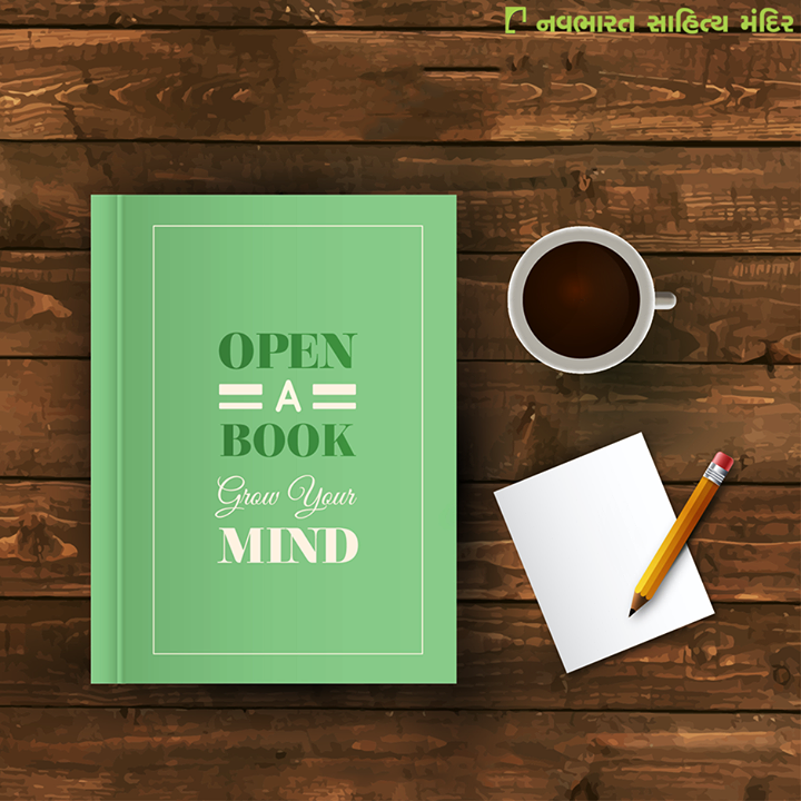 #Open a book, grow your #mind!   #Books #Reading #NavbharatSahityaMandir #Ahmedabad