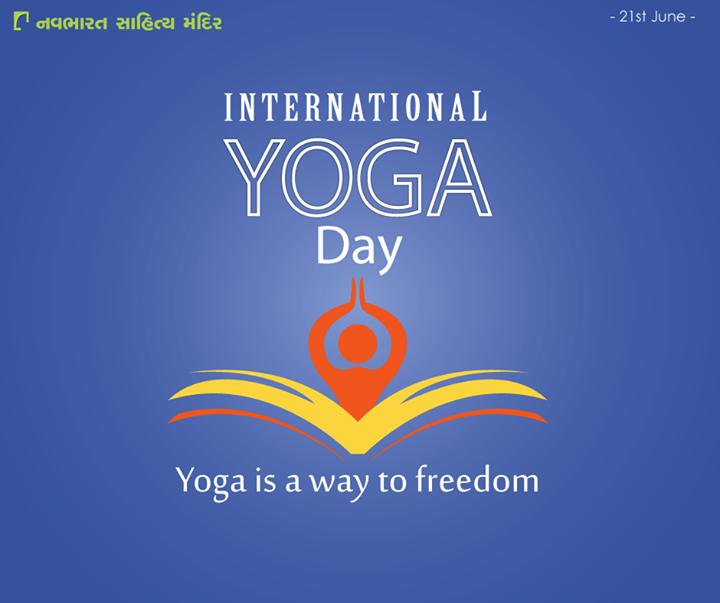 """""""પહેલું સુખ તે જાતે નર્યા"""" Start the journey of getting healthier and happier today.  #YogaDay #InternationalYogaDay #NavbharatSahityaMandir"""