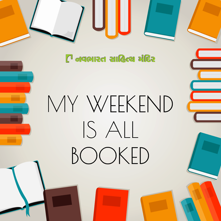 How is your #weekend going to be? #Booked?  #BookLovers #NavbharatSahityaMandir #Reading #Books