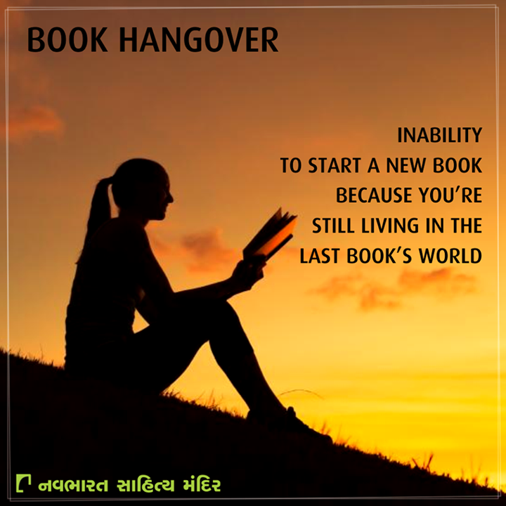 It's quite difficult to get over a #Book's hangover! Don't you agree?  #Reading #NavbharatSahityaMandir #Ahmedabad