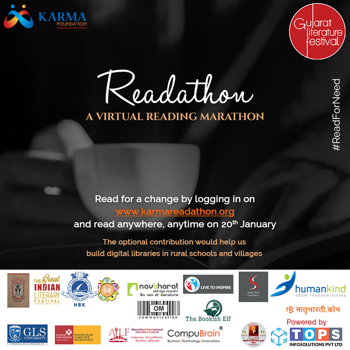Join in for this exciting event!   #Readathon #Reading #NavbharatSahityaMandir #KarmaFoundation