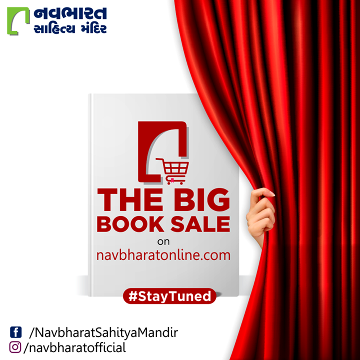 કંઈક નવીનતા સાથે કંઈક નવું આવી રહ્યું છે.  #TheBigBookSale #SatyTuned #પુસ્તકપર્વ #પુસ્તકપર્વ2020 #OnlineBookFair #OnlineBookFair2020 #PustakParv2020 #NavbharatSahityaMandir #ShopOnline #Books #Reading #LoveForReading #BooksLove #BookLovers #Bookaddict #Bookgeek #Bookish #Bookaholic #Booklife #Bookaddiction #Booksforever
