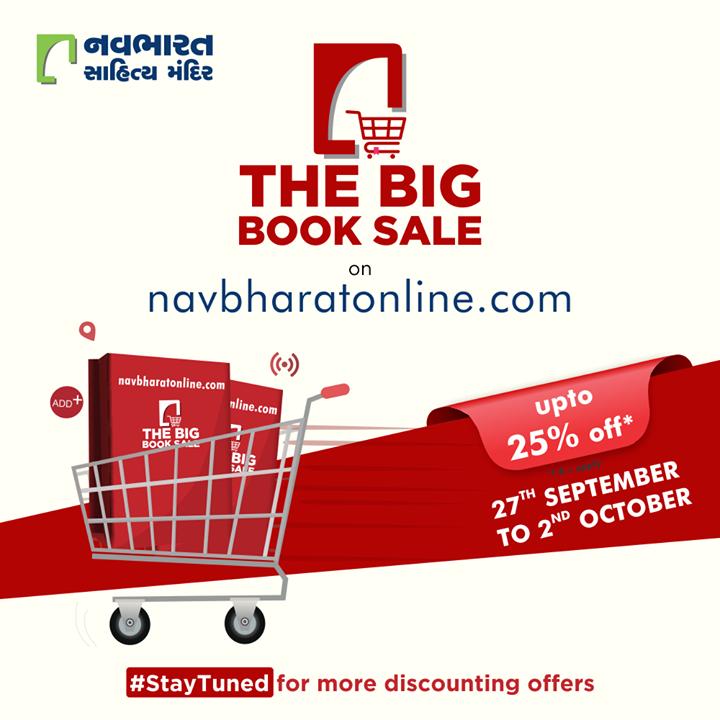 ગુજરાતી પુસ્તકો નું સંગ્રહ, ધ બિગ બુક સેલ લઇ ને આવી રહ્યા છીએ ખાસ તમારા માટે 27 સપ્ટેમ્બર થી 2 ઓક્ટોબર www.navbharatonline.com પર.   #TheBigBookSale #SatyTuned #OnlineBookFair #OnlineBookFair2020 #Sale #OnlineSale #NavbharatSahityaMandir #ShopOnline #Books #Reading #LoveForReading #BooksLove #BookLovers #Bookaddict #Bookgeek #Bookish #Bookaholic #Booklife #Bookaddiction #Booksforever