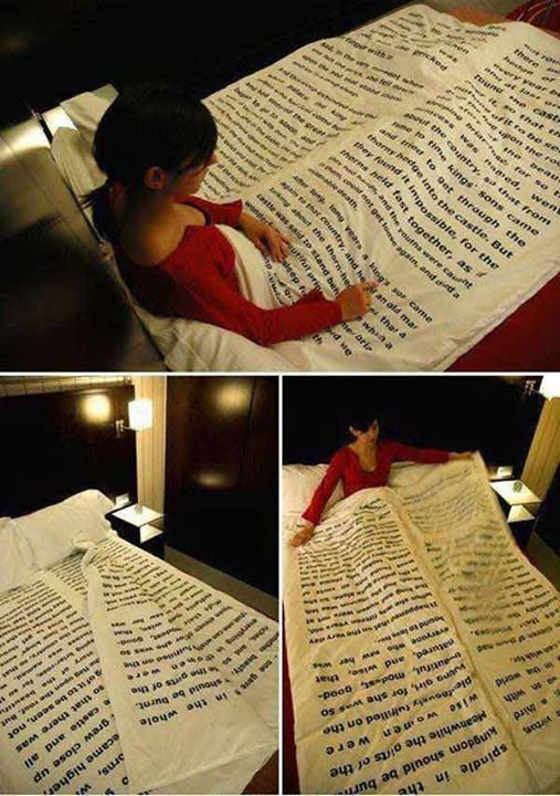 How much are you in love with books & literature?   Would you like your blanket as a #book?