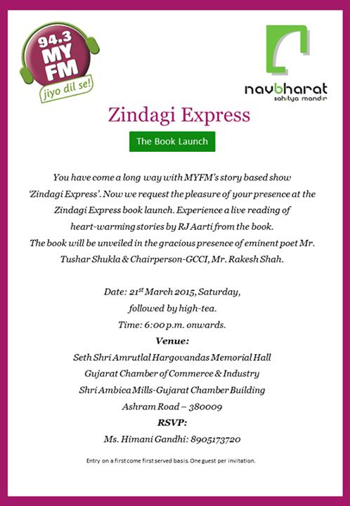Join us at #GCCI hall, Near Old Natraj theatre, Ashram Road between 6-8pm today..
