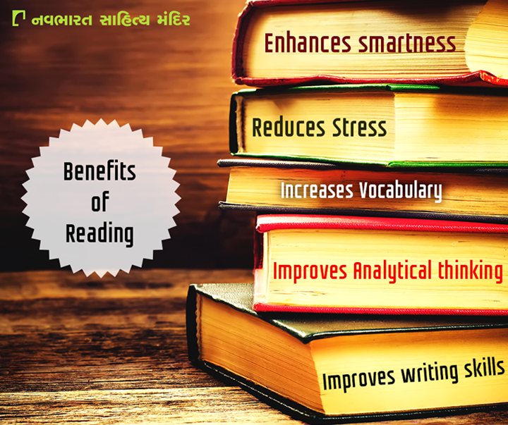 If you're one of countless people who don't make a habit of reading regularly, you might be missing out: reading has a significant number of benefits!  #BenefitsofReading #Reading #Books #NavbharatSahityaMandir