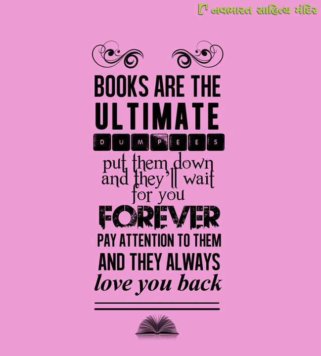 That's the thing with #books, don't you agree?  #ReadMoreBooks #LoveYourBooks #BookLovers #NavbharatSahityaMandir #Ahmedabad